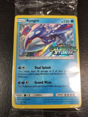 Pokemon Prerelease PRE RELEASE Promo Pack Celestial Storm KYOGRE SM129