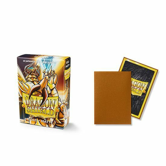 Dragon Shield 60 Deck Protector Sleeves Japanese size Matte Gold AT-11106 YGO