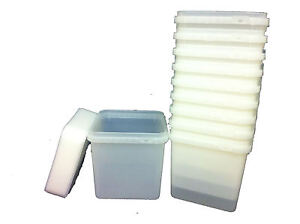 4-LTR-FOOD-GRADE-TUBS-SANDWICH-ICE-CREAM-STORAGE-Plastic-Containers-X-50