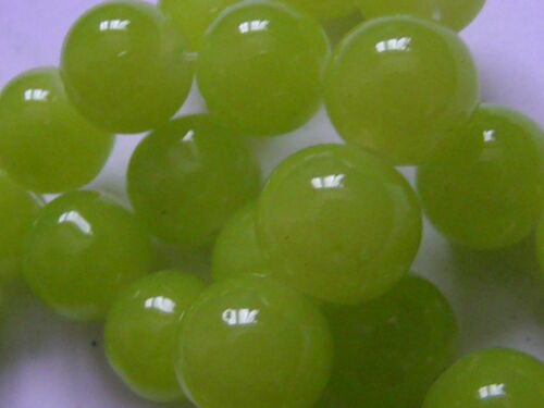 box63 10mm imitation jade néon lumineux perles de verre orange vert bleu rose