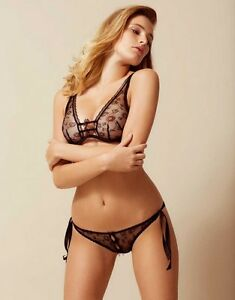 99dca51368 Image is loading Agent-Provocateur-SUMMER-BRA-36D-in-BLACK-LACE-