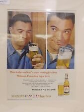 Original 1960 Vintage Advert mounted ready to framed Molson's Canadian lager