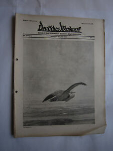 """Genial Jagdzeitung""""deutsches Weidwerk""""38.jahrgang,heft 14 Von 1933,jagd,jagdhund,pirsch Alte Berufe"""