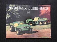 1993 John Deere New Gator 6x4 Amp 4x2 Utility Vehicle Sales Brochure Minty