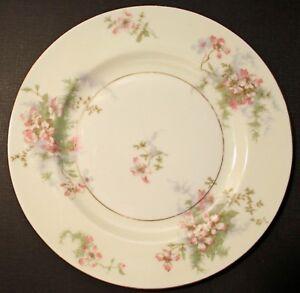 "8 Vintage Theodore Haviland New York Apple Blossom 7.5"" Salad Plates"