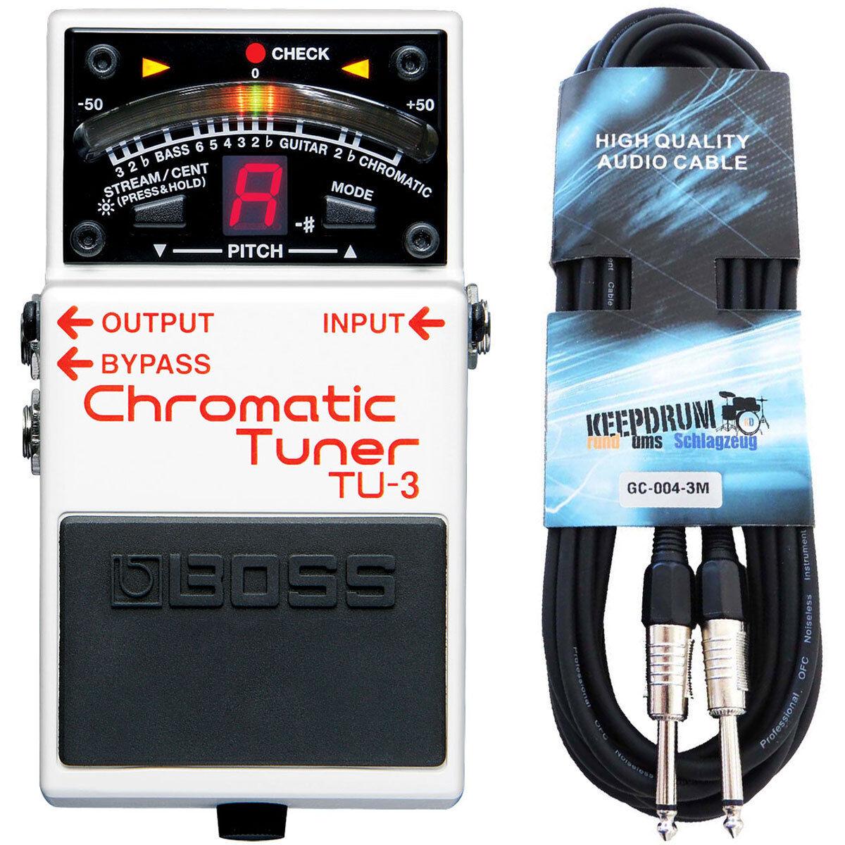 Boss TU-3 chromatisches Stimmgerät + Klinken-Kabel