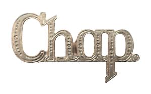 Chap Chaplain Nickel-Plated Abbreviation For Orange Order Collarette