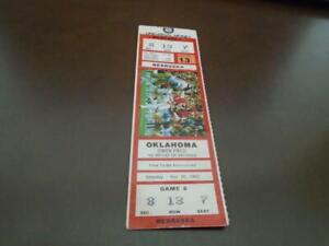 1983 NEBRASKA AT OKLAHOMA COLLEGE FOOTBALL FULL TICKET   eBay