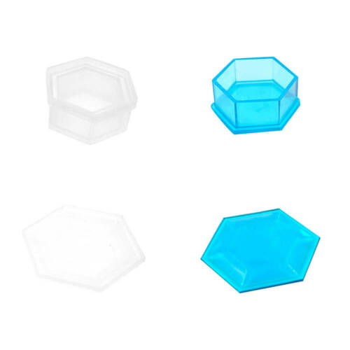 DIY Gift Flowerpot Mini Coffin Shaped Mold Silicone Mold With Cover Mold