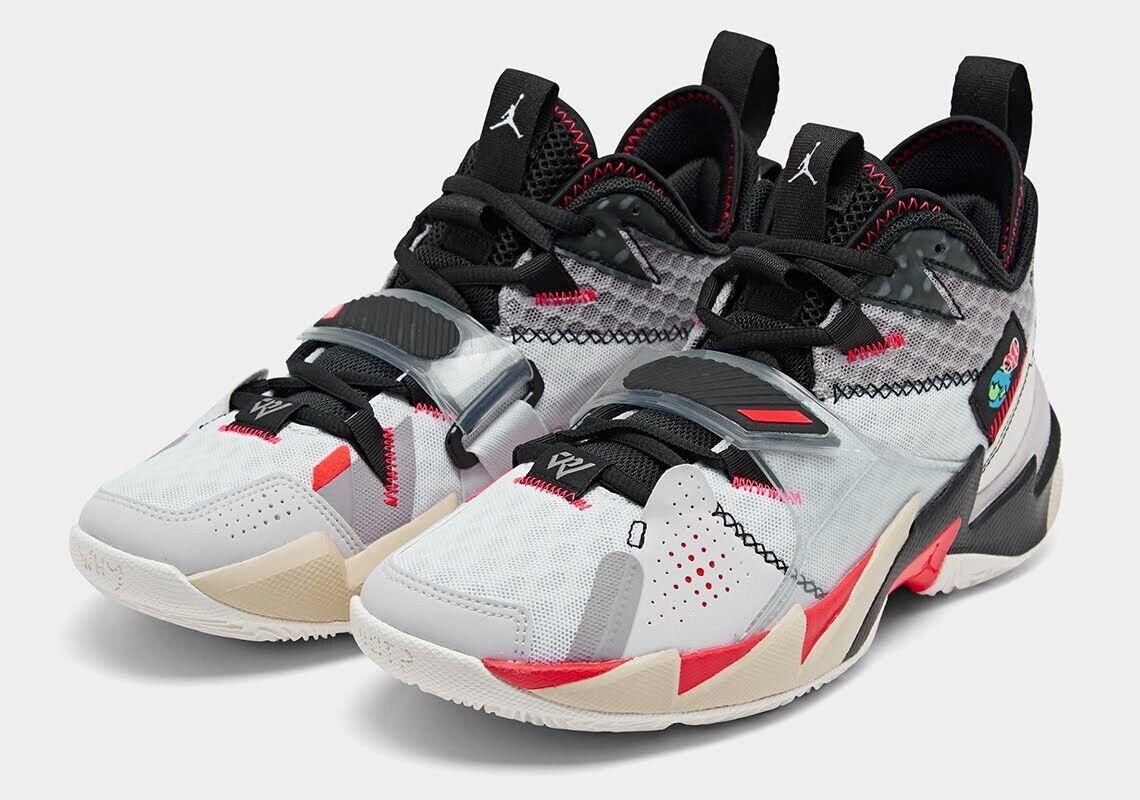 Nike Air Jordan Why Not Zero.3 UNITE White Bright Crimson Black CD3003-101 M8.5