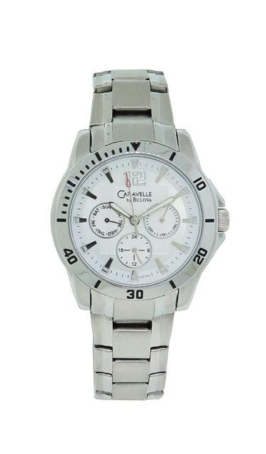 b8e283bc4 CARAVELLE by Bulova Men's 43C106 Multifunction Sport Watch Silver ...