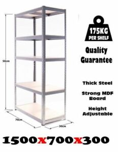 Thicken Metal Racking 5 Tier Shelving Unit For Car Parts Garage Shed Heavy Duty
