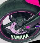 2 x YAMAHA R1 R6 YZF raptor R125 Race Motocross Wheels fairing aerox stickers