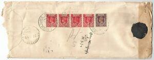 Burma MILY ADMN 1945 registered censored cover with unreadable cerelac censor