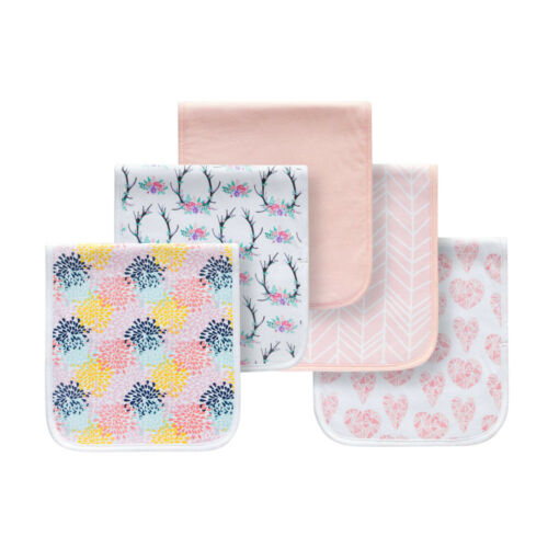 5PCS//Set Triple Layer Soft Cotton Infant Bibs Soft Newborn Feeding Saliva Towels
