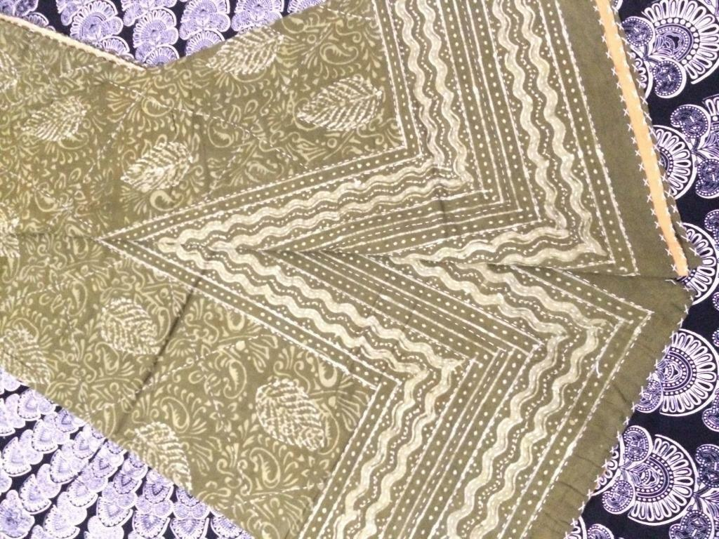 Indian Handmade Quilt Vintage Kantha Bedspread Throw Cotton Blanket Gudri  Queen