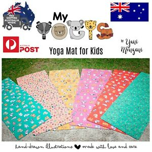 My Yogis: Eco-friendly yoga mat for kids. Natural Rubber - Microfiber. Washable