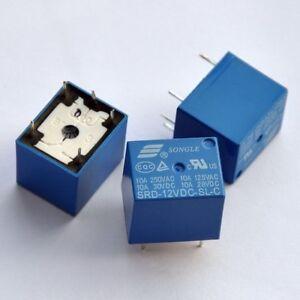 Relè relay 12v songle SRD-12VDC-SL-C da circuito stampato per carichi 250v 10A