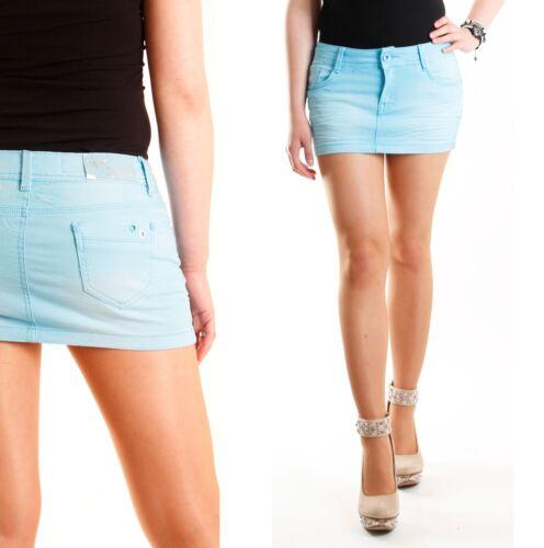 NEU 5 Pocket Damen Jeans Mini Rock kurzer Rock Sommerrock Jeansrock Gr.36-42