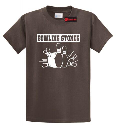 Bowling Stones Funny Bowling T Shirt Bowler Music Gift Tee
