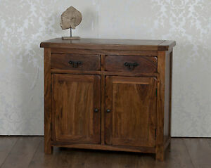 Image Is Loading Valencia Solid Sheesham Rosewood 2 Door Drawer