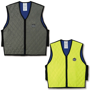 Ergodyne Chill-Its 6665 Evaporative Cooling Vest, Lime/Gray, M-3XL