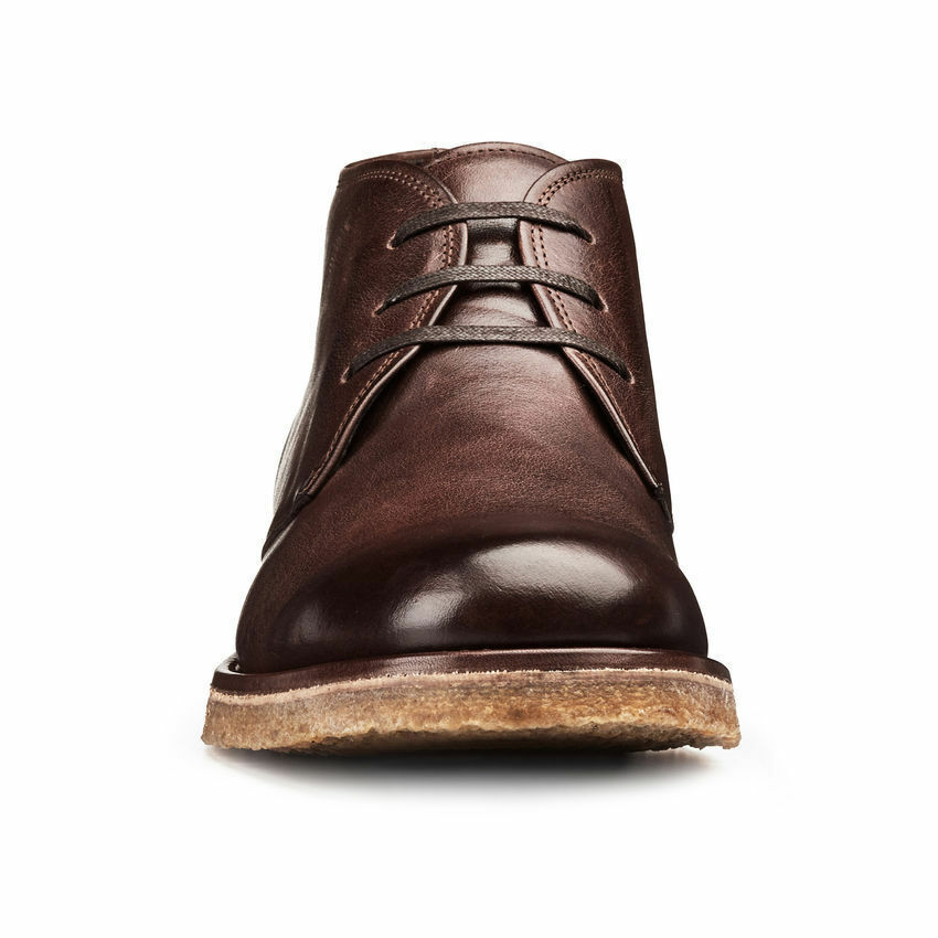 botas para hombre Hecho a Mano De Cuero Marrón Suela Lisa-Toe Crepe Chukka Zapatos Ropa Formal
