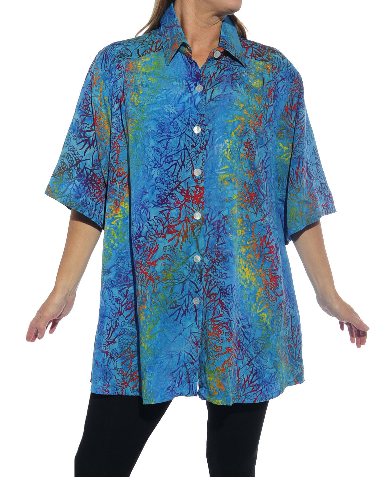 WeBeBop Women's Plus Size Seychelles New Tunic Top 0X 1X 2X 3X 4X 5X 6X