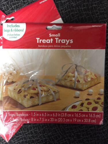 Cello Bags Plastic 3 PACKS! Amscan Christmas Treat Tray Kits 2 trays//pk