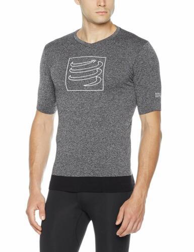 Compressport Homme Entraînement à Manches Courtes T-Shirt Grey Melange