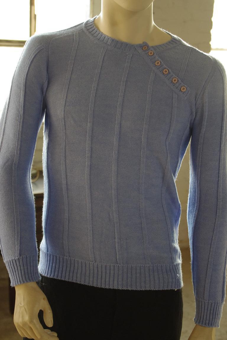 Herren Pullover NOS Gr. 50 True VINTAGE 80er blau Qualitätsfaser sweater 80s