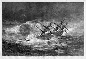 UNITED-STATES-STEAM-SHIP-OSSIPEE-IN-A-CYCLONE-HIGH-WAVES-NAUTICAL-STORM-SEASCAPE