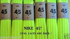 "NIKE 45"" OVAL SHOELACES VOLT 1 PAIR NEW NEON BRIGHT YELLOW FOR SNEAKERS LACES"