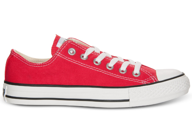 Converse Chuck Taylor All Star Core Ox Women US 5 Red SNEAKERS Blemish 13360