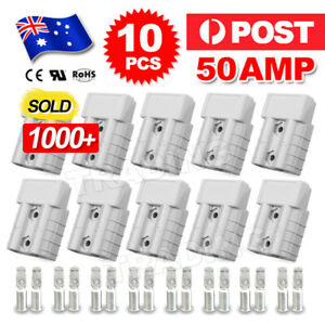 10-x-Anderson-Style-Plug-Connector-50-AMP-Plug-Connectors-DC-Power-12-24V-6AWG