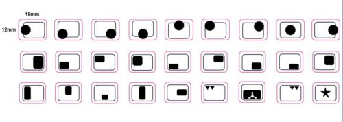 5 4 8 ou 9 anneaux plaque de cuisson Cuisinière cookertop marques indicateurs Stickers Decals 6 7