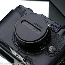 GARIZ Leather Capfix Black for FUJI X30 FUJI X20 FUJI X10 Lens Cap Protection