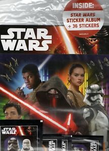 Star-Wars-Stickers-Includes-Stickers-From-The-Force-Awakens-Album-36-Stickers