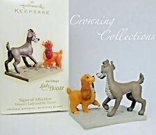 2008 Hallmark Lady and the Tramp Signs of Affection Keepsake Ornament Disney MIB