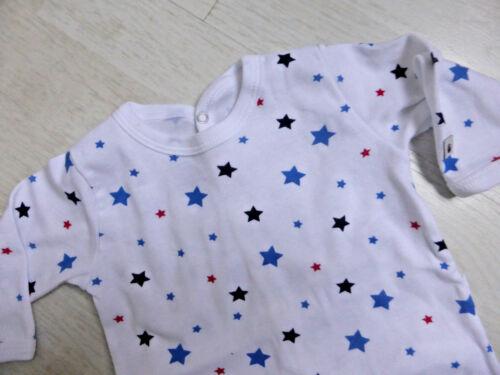Strampler//Overall//Schlafanzug von Petit Bateau in weiß mit Sternchen NEU!!