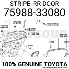 REAR DOOR 7598842050 Genuine Toyota STRIPE OUTSIDE LH 75988-42050