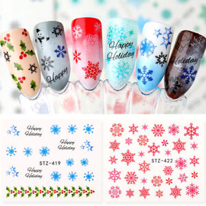 Nail-Art-3D-Nail-Sticker-Snow-Series-Nail-Decals-Fairy-Tales-Transfer-Sticker