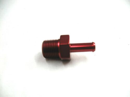 """hose fitting show polished red  Anodized Aluminum 3//8 inch npt to 5//16/"""" i.d"""