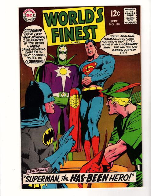 World's Finest Comics #178 (1968, DC) VF- Neal Adams Superman Batman Green Arrow