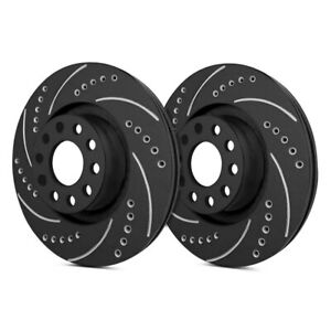 REAR Set 2 DRILLED AND SLOTTED PERFORMANCE BRAKE ROTORS For MERCEDES BENZ