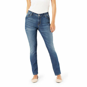 Signature-By-Levi-Strauss-amp-Co-Gold-Label-Women-039-s-Straight-Leg-Cape-Town-Jean