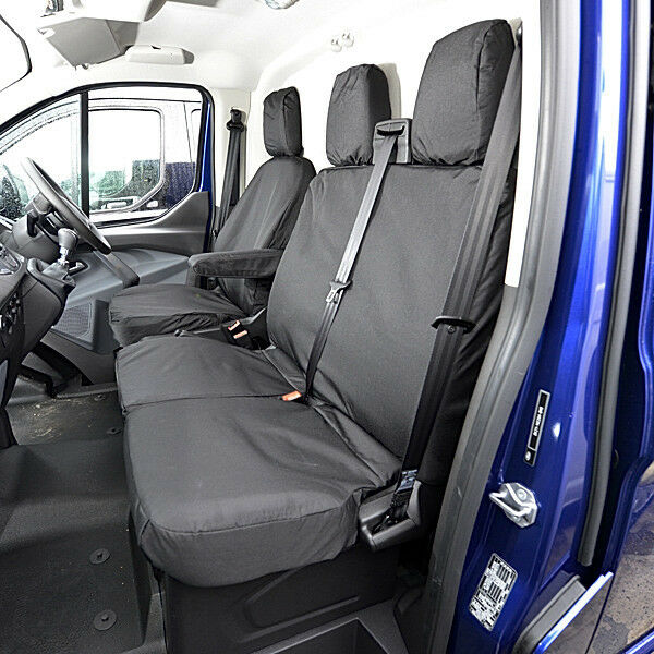 FORD TRANSIT CUSTOM 2018 ON TAILORED HEAVY DUTY VAN SEAT COVERS 006