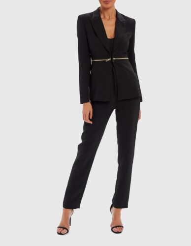 Forever Unique-Noir Classique ornée Blazer Costume