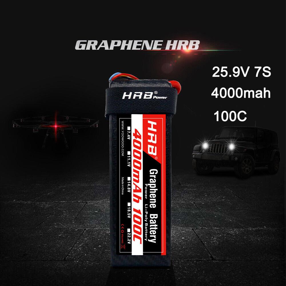 Graphene HRB Lipo Batería 4000mAh 7S 25.9V 100C EC5 para Drone Helicóptero a Control Remoto UAV