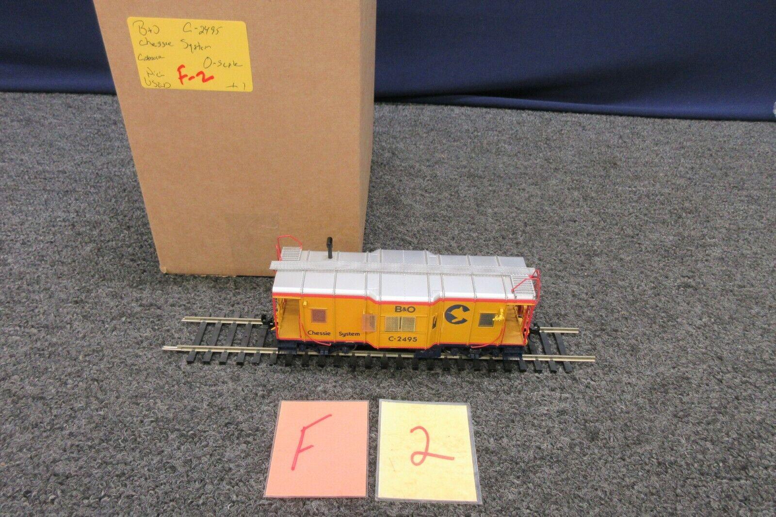 Chessie System Train B&O C2495 Caboose auto OGauge Scale Kadee